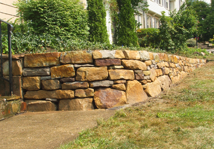 Rock retaining walls s a civil earthworkers for Landscape design adelaide hills